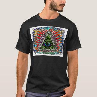 Toute la conception reptile voyante de T-shirt