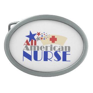 Toute l'infirmière américaine boucles de ceinture ovales