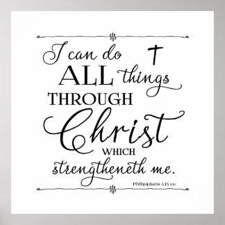Toutes les choses par le Christ - 4h13 de Poster