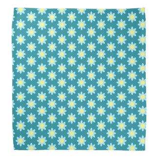 TP bleu de fleur Foulard
