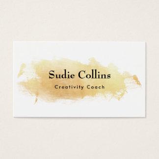 Traçage créatif d'aquarelle d'or cartes de visite