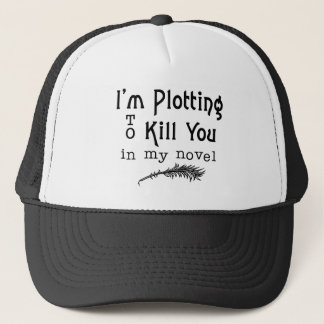 Traçage drôle d'écriture pour vous tuer auteurs casquette