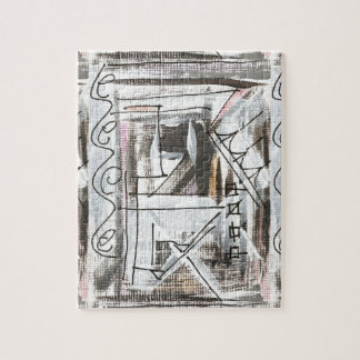 Traçages abstraits peints parMain Puzzle