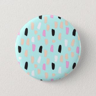 Traçages bleus en pastel au néon badge rond 5 cm
