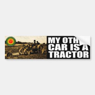 tracteur autocollant de voiture