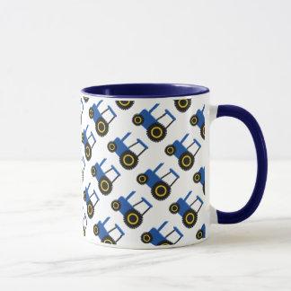 Tracteur bleu mug