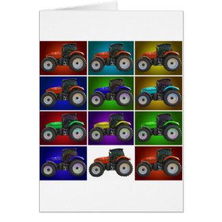 tracteur carte de vœux