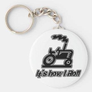 Tracteur de ferme comment je roule porte-clé rond