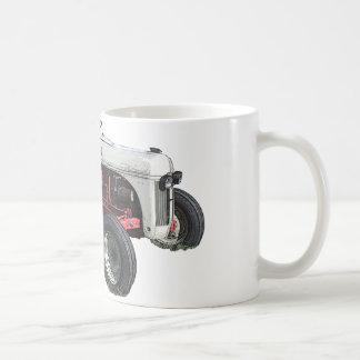 tracteur mug blanc