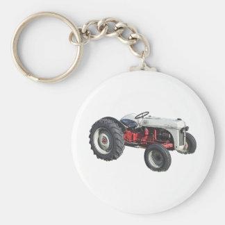 tracteur porte-clé rond
