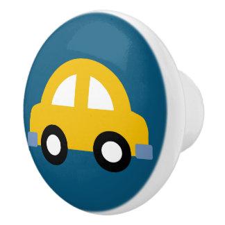 Traction jaune de bouton/tiroir de voiture