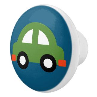 Traction verte de bouton/tiroir de voiture