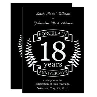 Traditionele het huwelijksverjaardag van het 12,7x17,8 uitnodiging kaart