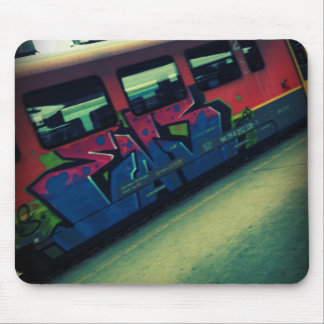 Train de graffiti tapis de souris