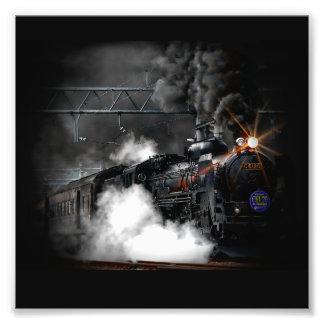 Train locomotif de noir vintage de machine à photo d'art