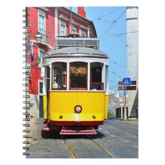 Train Portugal de jaune de carnet