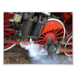 Train vintage 2 de vapeur tirage photo