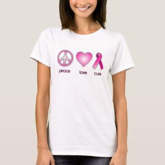 Traitement d'amour de paix t-shirt