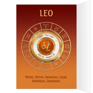 Traits de personnalité de signe de zodiaque de carte de vœux
