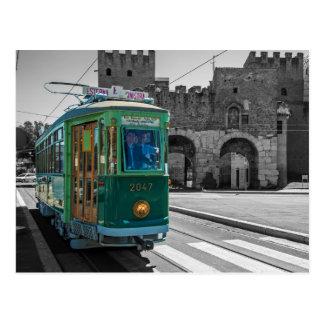 Tram de vétéran à Rome, Italie Carte Postale