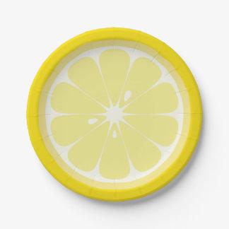 Tranche de citron assiettes en papier