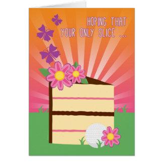 Tranche mignonne et d'amusement d'anniversaire pou carte de vœux