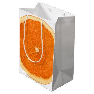 tranche orange sac cadeau moyen