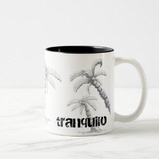 Tranquilo - tasse de palmier de la vie de plage