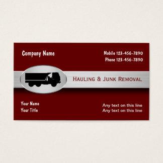 Transport des cartes de visite d'enlèvement