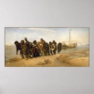 Transporteurs de péniche sur le Volga