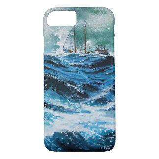 Transportez-vous en mer dans la tempête/bleu coque iPhone 7