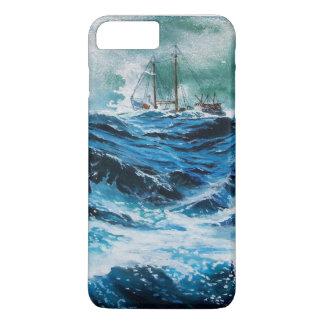 Transportez-vous en mer dans la tempête/bleu coque iPhone 8 plus/7 plus