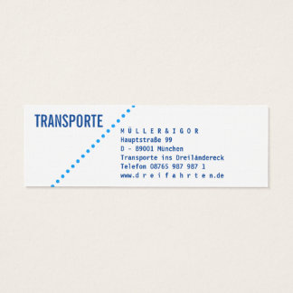 Transports mini+ cartes de visite