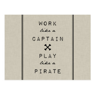 Travail comme un capitaine Play Like A Pirate Carte Postale