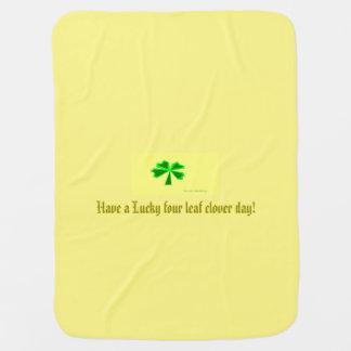 trèfle chanceux de quatre-feuille (LFLC) Couverture Pour Bébé
