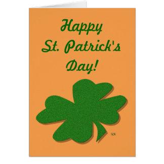 trèfle de feuille de l'Irlandais 4 de bonne chance Carte De Vœux