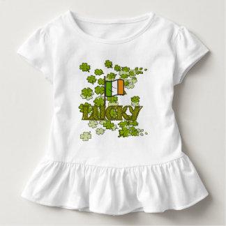 Trèfles irlandais chanceux et T-shirt irlandais de