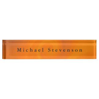 Trendy Oranje Moderne Unieke Persoonlijk van het Naambord