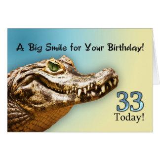trente-troisième Carte d'anniversaire