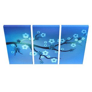 Tri art de toile des fleurs de cerisier trois