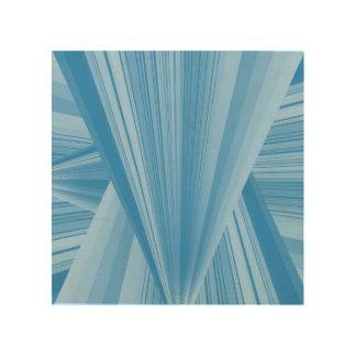 triangle bleue impression sur bois