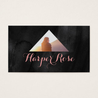 Triangle moderne de photo d'aquarelle cartes de visite