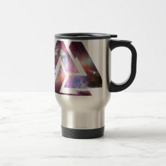 Triangle triple cosmique de noeud mug de voyage