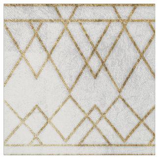 Triangles géométriques d'or moderne chic de Faux Tissu