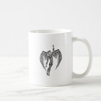 Tribal angel mug blanc
