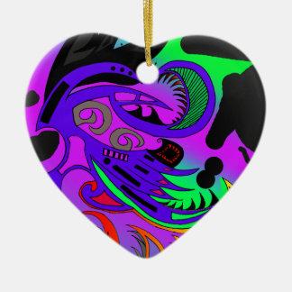 Tribal collection ornement cœur en céramique