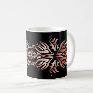 Tribal mug 5 réseau and white