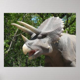 Triceratops de dinosaure poster