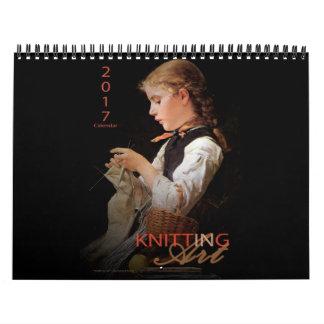 Tricotage dans l'art - calendrier 2017