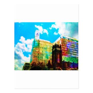 trillende van de binnenstad briefkaart